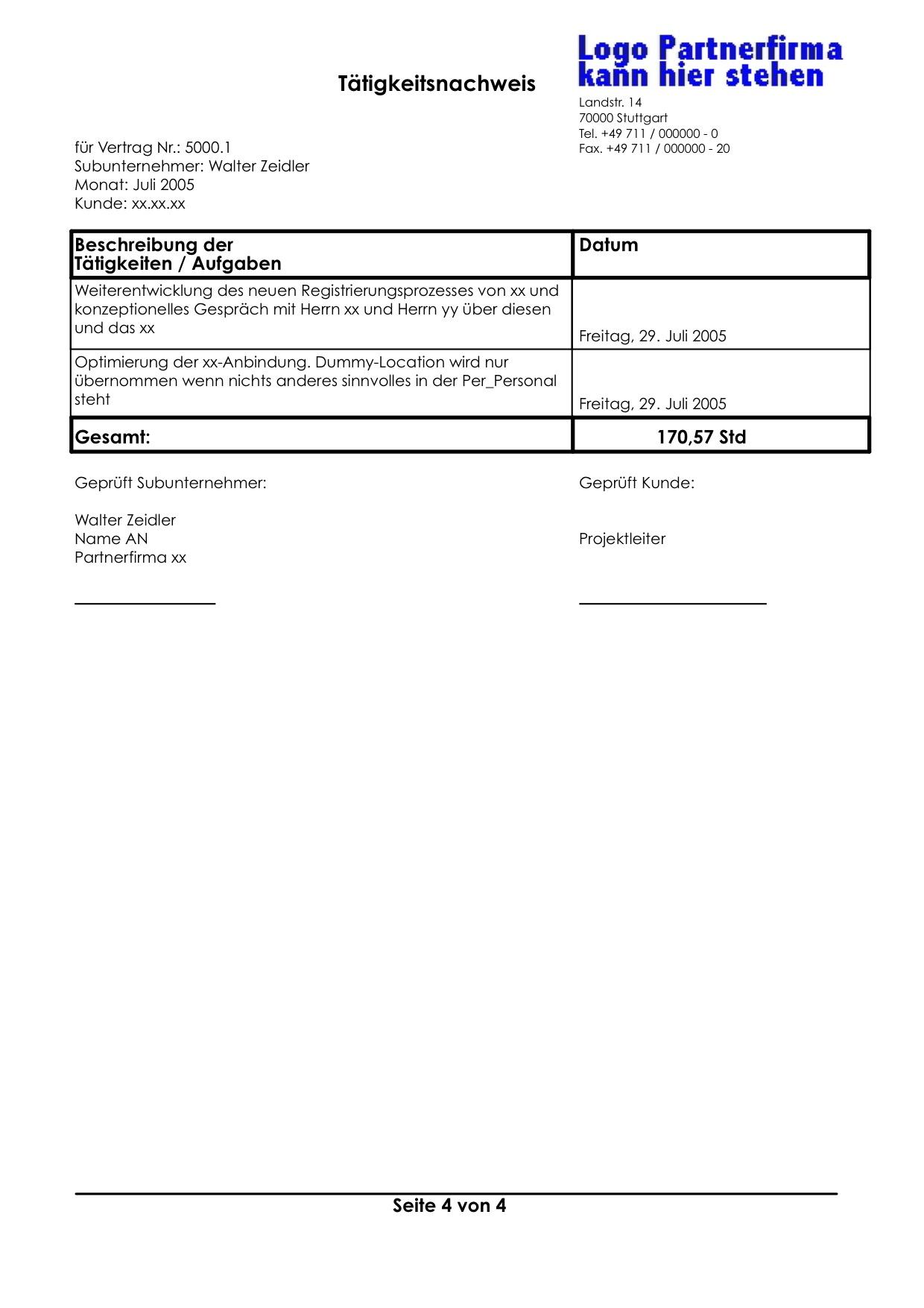 Tolle Vertrag Für Subunternehmer Vorlage Fotos - Entry Level Resume ...